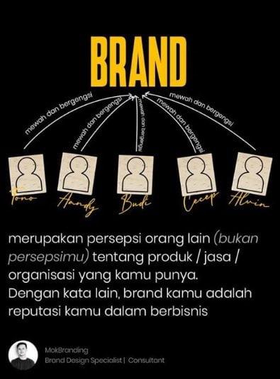 brand adalah persepsi tentang produk