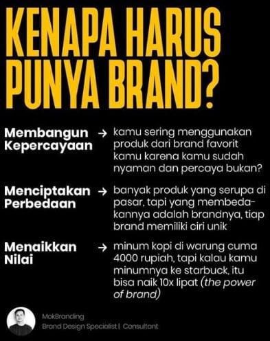 Beberapa alasan perusahan harus menyiapkan brand