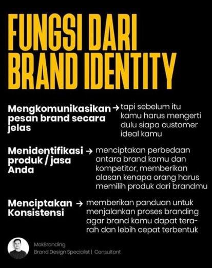 fungsi brand identity