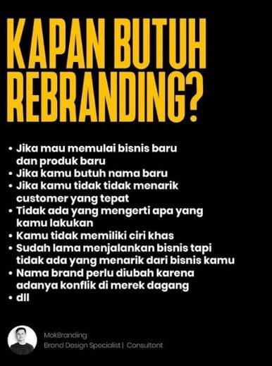 Pertimbangan sebelum rebranding